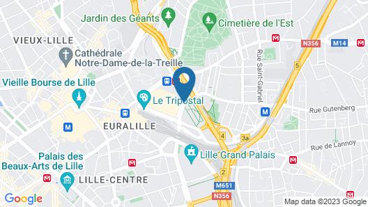 Hôtel Barrière Lille Map