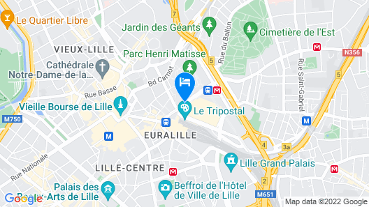 Hotel Lille Europe Map