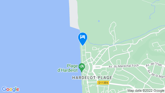 Apartment With 2 Bedrooms in Neufchâtel-hardelot, With Wonderful sea View, Furnished Balcony and Wifi - 1 m From the Beach Map