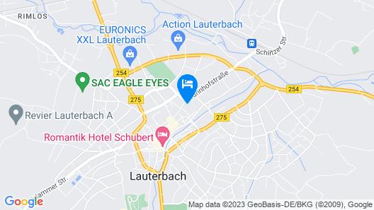 Posthotel Restaurant Johannesberg Map