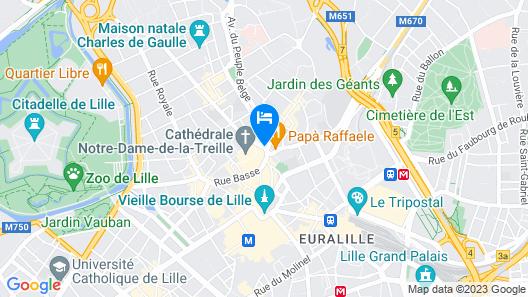 Hotel de la Treille Map