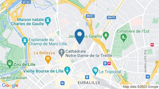 ibis budget Lille Centre Map