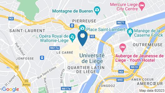 Amosa Liège City Centre Apart Regence 10 Map