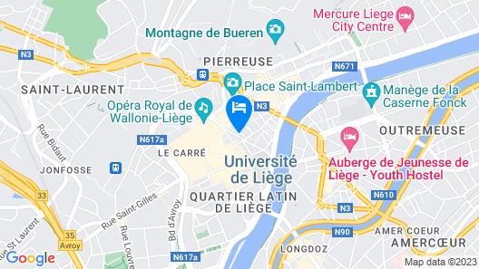Amosa Liège City Centre Apart Donceel 6 Map