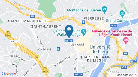 pentahotel Liège Map