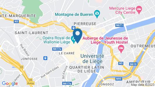 ibis Liège Centre Opéra Map