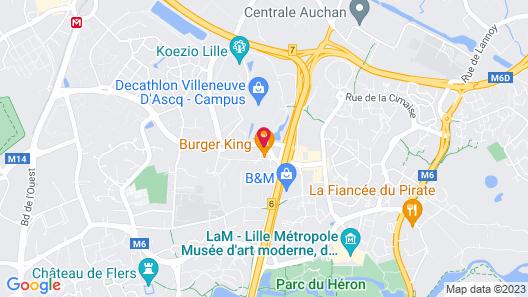 ibis budget Lille Villeneuve d'Ascq Map