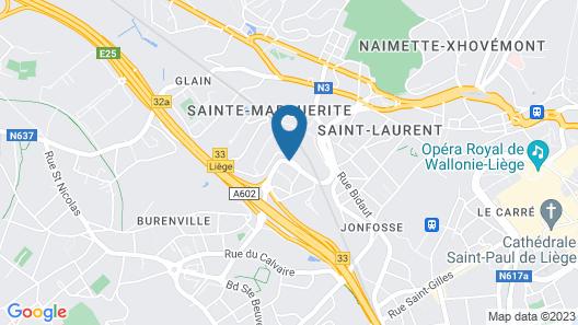 Campanile Hotel Liege Map