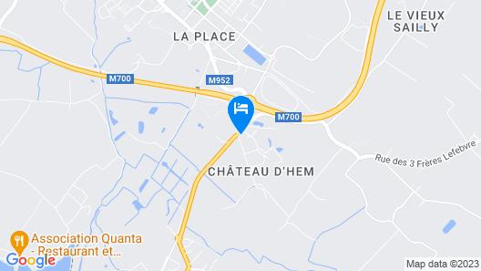 Kyriad Lille Est - Hem Map