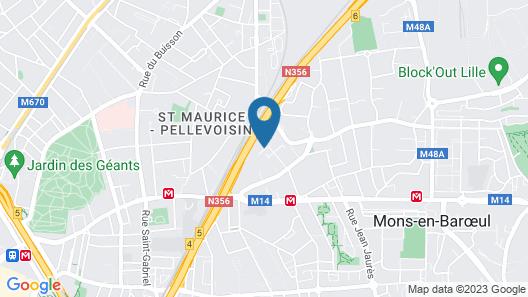 hotelF1 Lille Métropole (Métro Mons Sarts) (rénové) Map