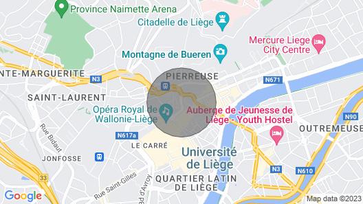 Superb Studio Hyper Center Place Saint-Lambert Map