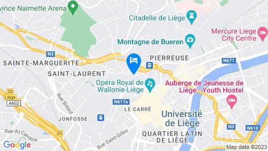 Van der Valk Sélys Liège Hotel & Spa Map