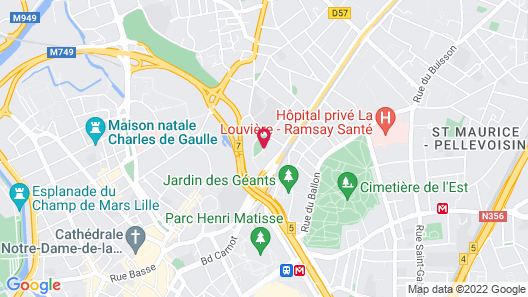 Campanile Hotel Lille Euralille Map