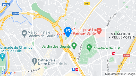 Appart'City Confort Lille - Euralille Map