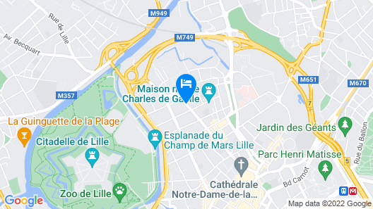 The People Hostel - Lille Map