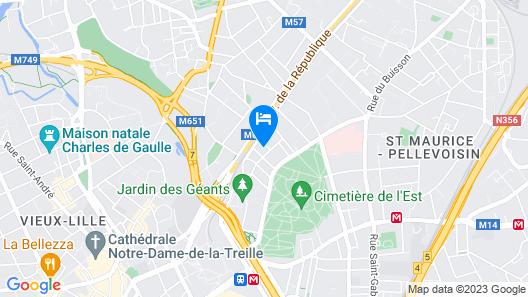 Triplex 2 Chambres Jardinet Lille Madeleine Map
