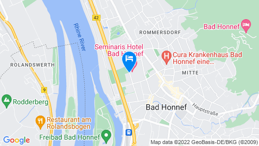 Seminaris Hotel Bad Honnef Map