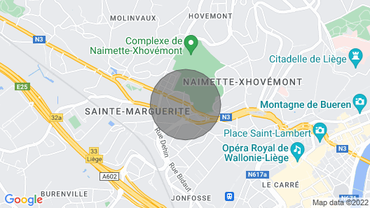Charming Bright House in Liège Map