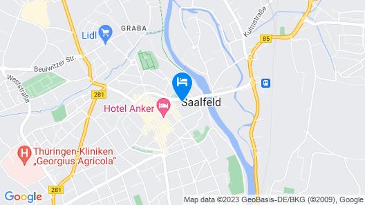 Hotel Tanne in Saalfeld Map