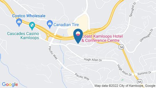 Coast Kamloops Hotel & Conference Centre Map