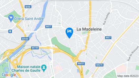 Appartement Convivial, Proximite Centre DE Lille Map