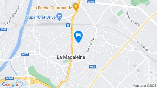 Loger à La Madeleine Map