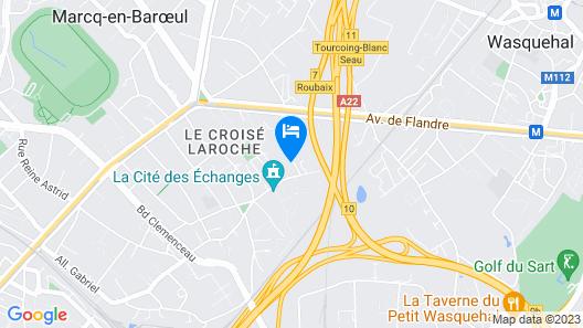 Appart Hôtel Marcq-en-Baroeul - Chiara Map