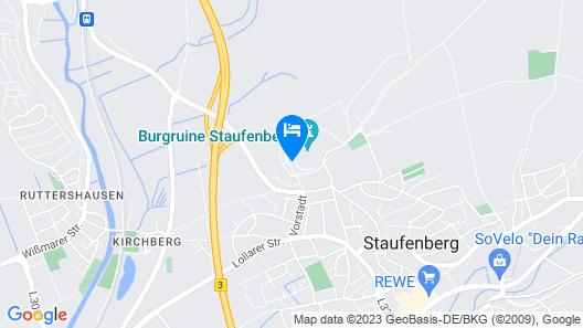 Hotel Burg Staufenberg Map