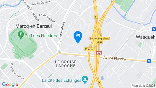 Appart Hôtel Marcq-en-Baroeul - GEORGES Map