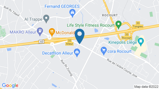 Ibis Budget Liège Map