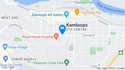 Travelodge by Wyndham Kamloops Map