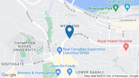 Ramada by Wyndham Kamloops Map