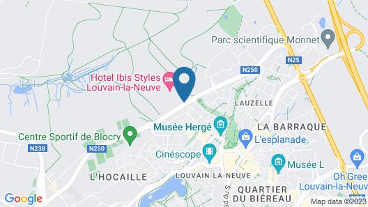 ibis Styles Louvain la Neuve Hotel et Events Map