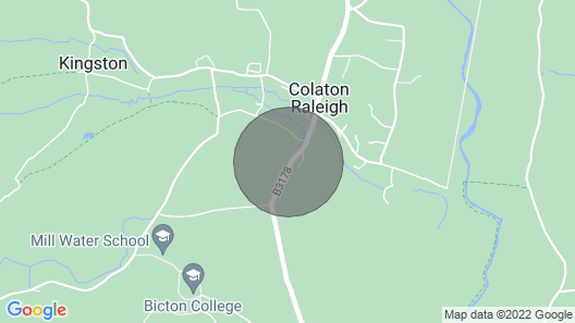 2 Bedroom Accommodation in Colaton Raleigh, Near Sidmouth Map