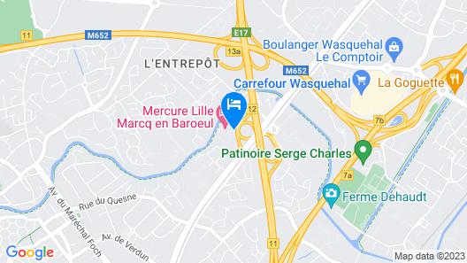 Mercure Lille Marcq en Baroeul Map