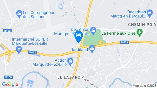 Najeti Hôtel Lille Nord Map