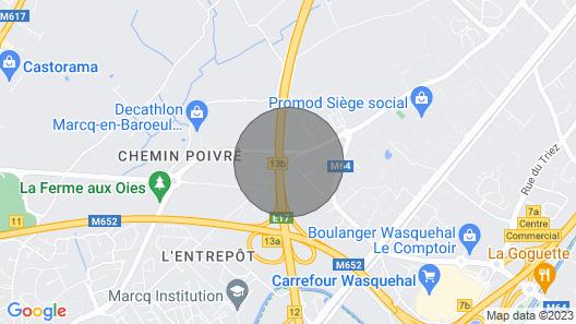 Superbe Appartement 2 Personnes à Marcq-en-barœul Map