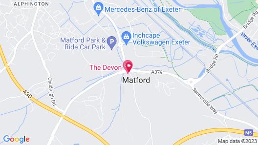 The Devon Hotel Map