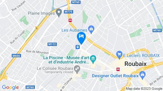 B&B Hotel Lille Roubaix Centre Gare Map