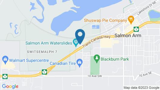 SureStay Plus Hotel By Best Western Salmon Arm Map