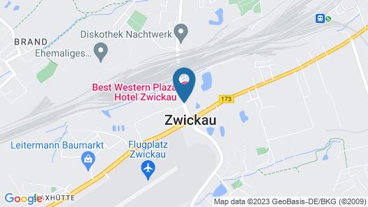 Best Western Plaza Hotel Zwickau Map