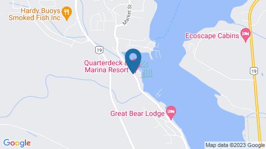 Quarterdeck Inn & Marina Resort Map