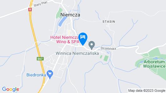 Hotel Niemcza SPA Map