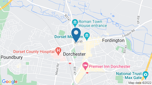 Best Western Wessex Royale Hotel Dorchester Map