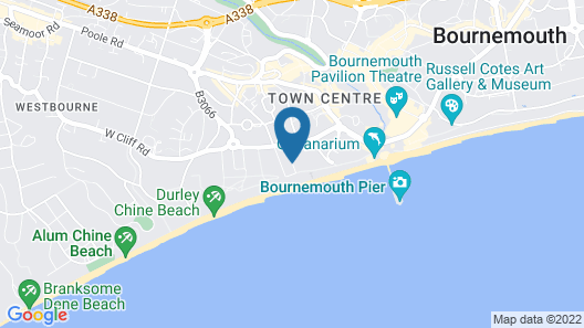 Bournemouth Highcliff Marriott Hotel Map