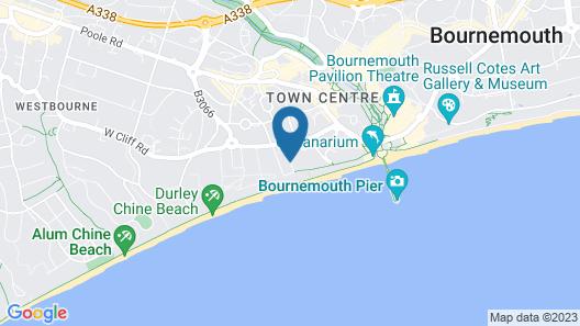 Bournemouth Highcliff Marriott Hotel Map