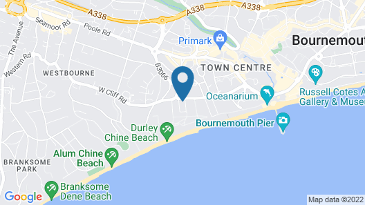 Bournemouth Sands Hotel Map