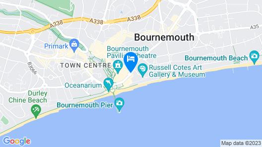Royal Bath Hotel & Spa Bournemouth Map