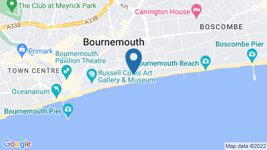Bournemouth East Cliff Hotel, Sure Hotel Collection by BW Map