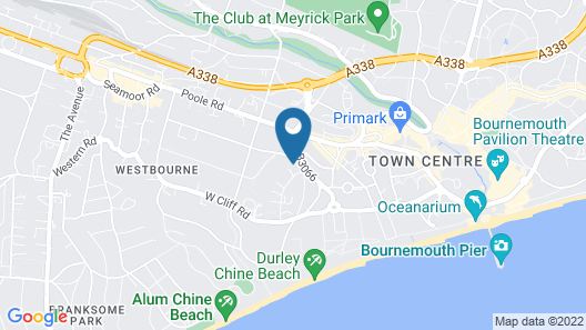 Bournemouth West Cliff Hotel Map